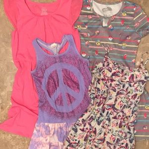 4 dresses: Children's Place, Circo, Shopkins etc.